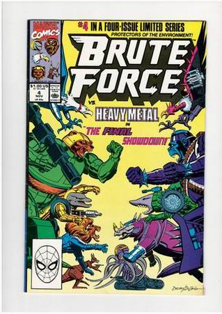 Brute Force Vol 1 #4, November, 1990 - strip na engleskom = 25kn